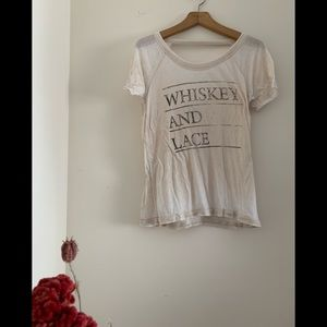 Whiskey and Lace vintage style tee
